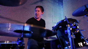 Young drummer stock video footage