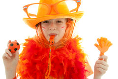 Young dutch soccer supporter Royalty Free Stock Photo