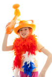 Young dutch soccer supporter Royalty Free Stock Photos