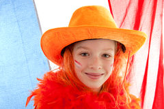 Young dutch soccer supporter Stock Images