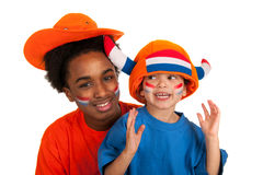 Young Dutch soccer supporters Stock Photography