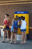 Young Dutch Women Go Traveling By Train Stock Photo