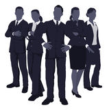 Young dynamic business team Royalty Free Stock Photos