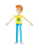 Young Ecologist Character Vector Illustration. Royalty Free Stock Photo