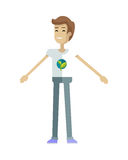 Young Ecologist Character Vector Illustration. Royalty Free Stock Photos