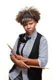 Young Edgy African Girl Drummer Royalty Free Stock Photography