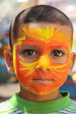 Young Egyptian boy. A portrait of a happy young boy had his face painted in Giza, Egypt Stock Images