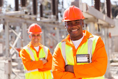 Young electrical engineer stock photography