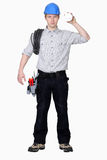 Young electrician Stock Image