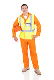 Young electrician white royalty free stock image