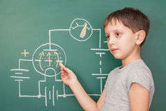 The young electronic engineer. Studying electronics bases Stock Images