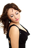 Young elegance woman with beauty hairs Stock Photos