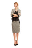 Young and elegant business woman standing with confidence Stock Images