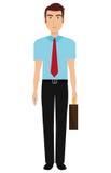 Young elegant businessman avatar over white background, Stock Image