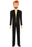 Young elegant businessman avatar over white background, Stock Photos