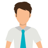 Young elegant businessman avatar over white background, Stock Photography