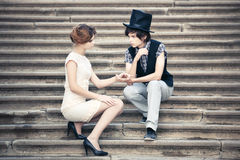 Young elegant couple Stock Photo
