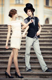 Young elegant couple Royalty Free Stock Photography