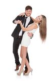 Young elegant couple dancing Royalty Free Stock Photography