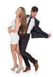 Young elegant couple dancing Royalty Free Stock Images