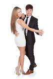 Young elegant couple dancing Royalty Free Stock Photo
