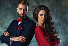 Young elegant couple Royalty Free Stock Images