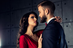 Young elegant couple Stock Photography