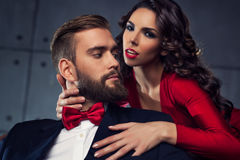 Young elegant couple Stock Images