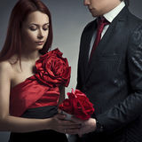 Young elegant couples in love Stock Image