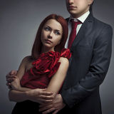 Young elegant couples in the tender passion Stock Image
