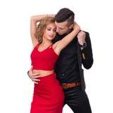 Young elegant loving couple portrait, isolated on Stock Photo