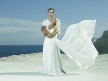 Young elegant wedding couple Royalty Free Stock Photography