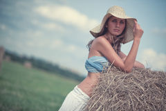 Young elegant woman stock photography