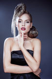 Young elegant woman with creative hair style Royalty Free Stock Photos