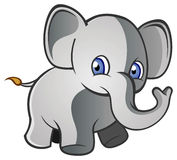 Young Elephant. A cute young elephant character Royalty Free Stock Images