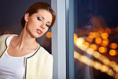 Young ellegant woman Royalty Free Stock Images