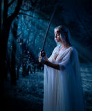 Young elven girl stock image