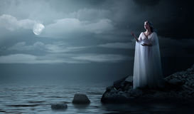 Young elven girl on sea coast. Elven girl on sea coast Royalty Free Stock Image