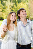 Young embracing couple Royalty Free Stock Image