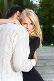 Young embracing couple Royalty Free Stock Images