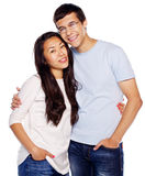 Young embracing couple Stock Photo