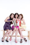 Young Emotional Women. Young women speaking and laughing stock images