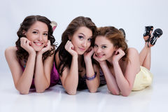 Young Emotional Women stock photography