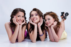 Young Emotional Women Royalty Free Stock Images