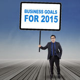 Young employee with business goals for 2015 Royalty Free Stock Images