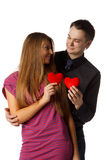Young enamoured couple Stock Images