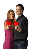 Young enamoured couple Royalty Free Stock Photo