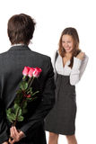 Young enamoured couple Royalty Free Stock Images