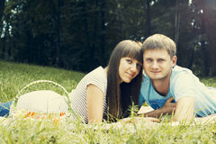 Young enamoured couple Royalty Free Stock Photography