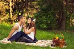 Young enamoured couple Stock Image
